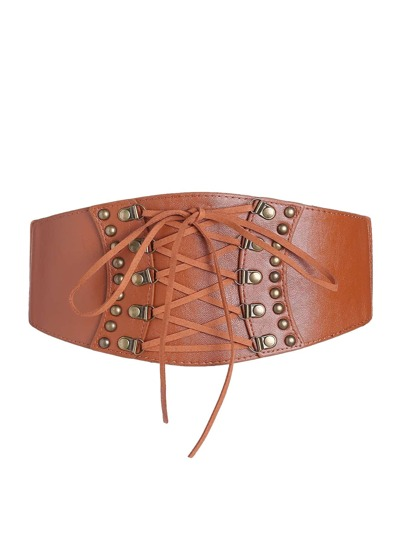 Criss Cross Tie Corset Belt