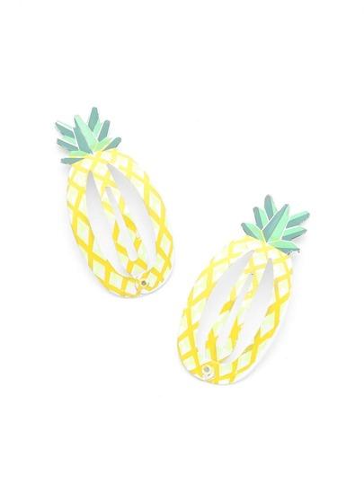 Fermaglio per capelli a forma di ananas 2 pezzi