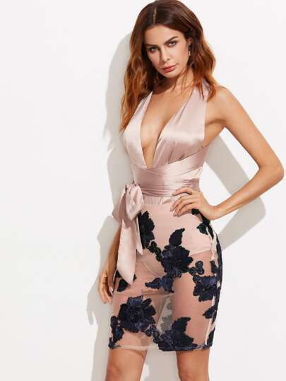 Knicker Insert Applique Mesh Bottom Infinity Dress