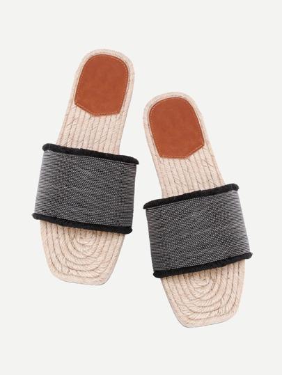Sandales découpé métallique avec des perles