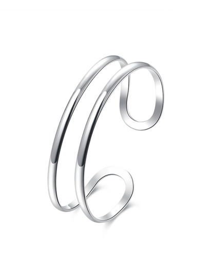 Silver Plated Smooth Bangle