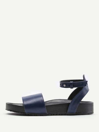 PU Ankle Strap Sandals