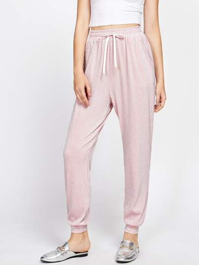 Glitter Peg Sweatpants