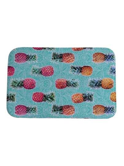 Tappeto con stampa di ananas
