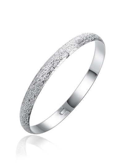 Metal Plated Bangle Bracelet