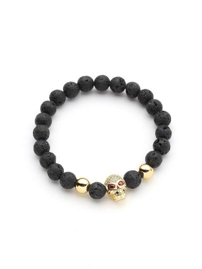 Skeleton Detail Beads Bracelet