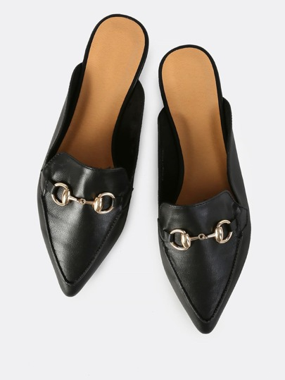 Point Toe Loafers BLACK