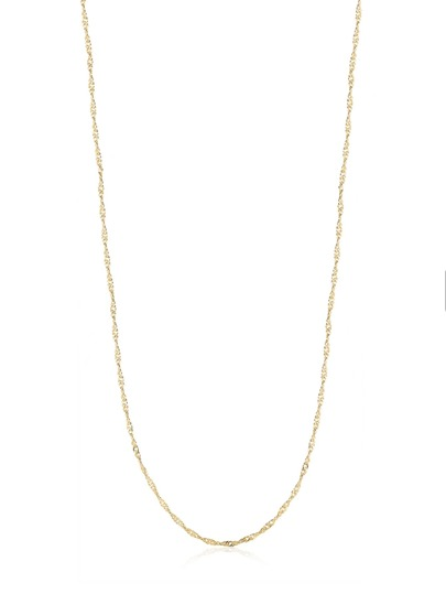 Simple Plated Metal Necklace