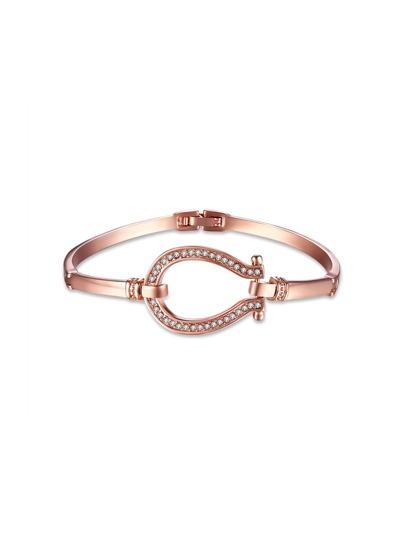 Rhinestone Decorated Geometric Bracelet