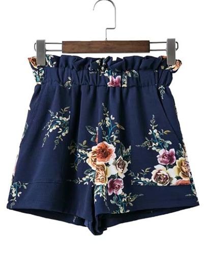Shorts large taille élastique