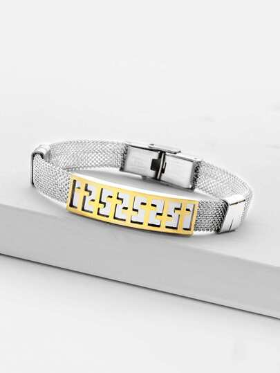 Contrast Cross Insert Bangle