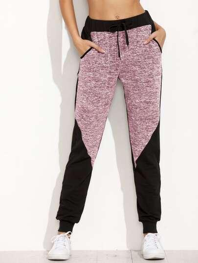 Pantalons de survêtement en espace teint