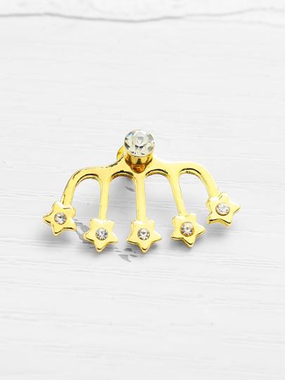 Rhinestone Star Design Stud Earring 1pcs