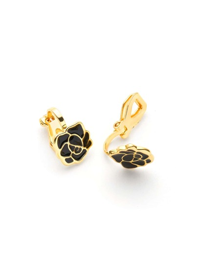 Contrast Rose Design Ear Cuffs