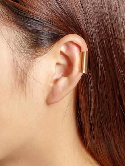 1 pieza de brazalete de oreja simple de metal