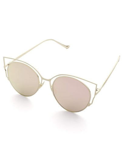 Gafas de sol estilo de ojo de gato con lentes planos