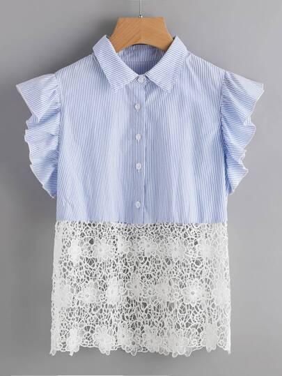 Blusa crochet de rayas