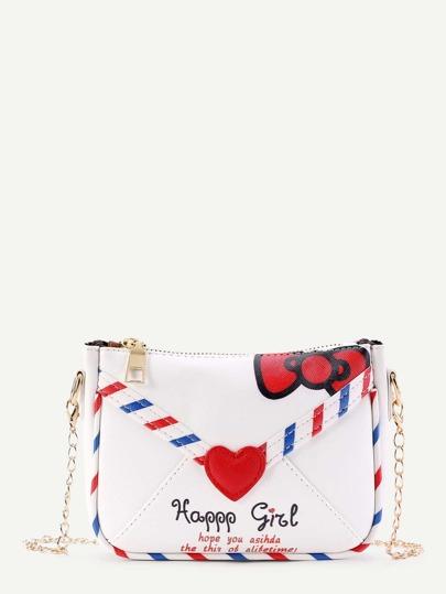 Модная кожаная сумка в форме конверта