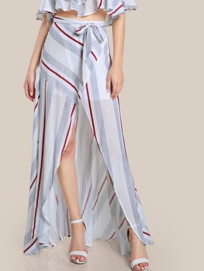 Overlay Flowy Stripe Skirt STRIPE