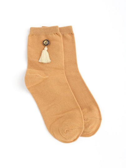 Tassel Decor Ankle Socks