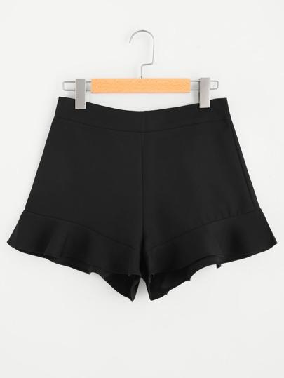 Pantaloncini con zip sul retro