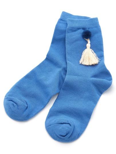 Calcetines tobilleros con detalle de borla