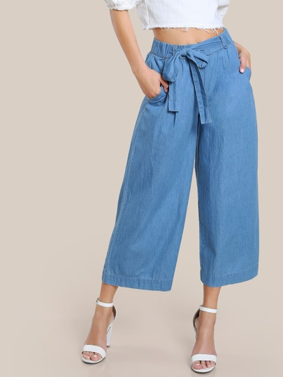 High Rise Denim Pants LIGHT BLUE