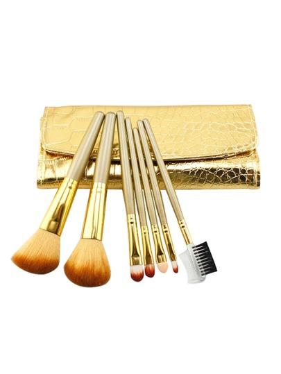 Brosse de maquillage professionnelle 7 pièces avec sac