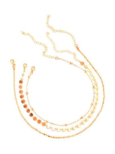 Halskette Set mit Pailletten und Beads