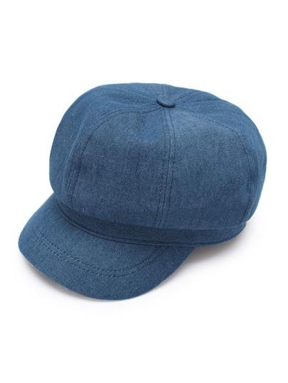Chapeau de fil en denim