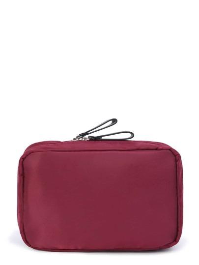 Double Zipper Makeup Bag