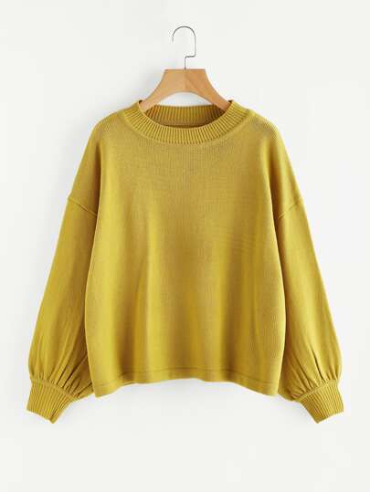 Drop Shoulder Dolman Sleeve Jumper