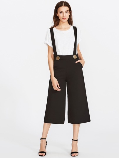 Wide Leg Pants With Wide Strap