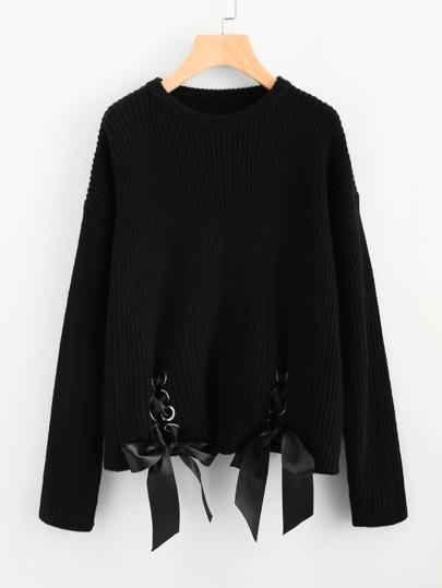 Maglione con laccetti