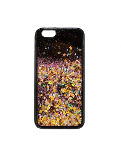 Stars Liquid Glitter iPhone Case