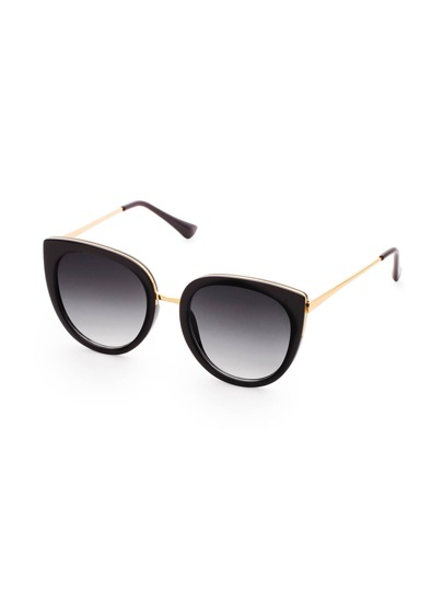 Black Frame Viola Lens Sunglasses