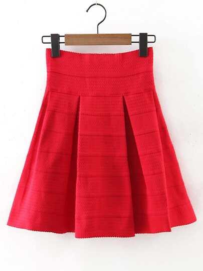 Elastic Waist Flare Skirt
