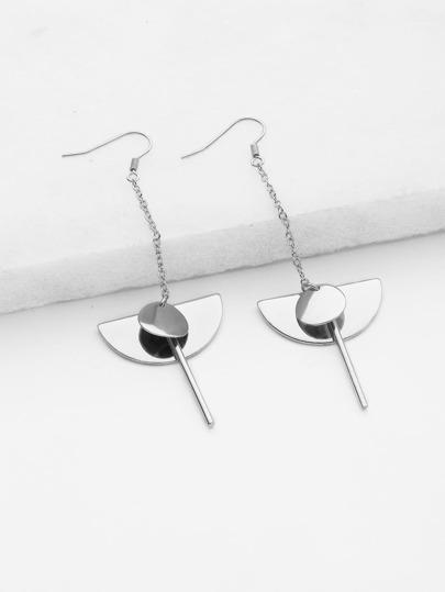 Sequin & Bar Design Geometric Earrings