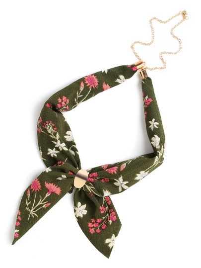 Calico Print Chain Linked Neckerchief