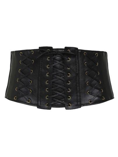 Criss Cross Detail Corset Belt