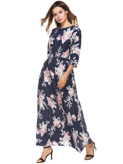 Florals Full Length Dress