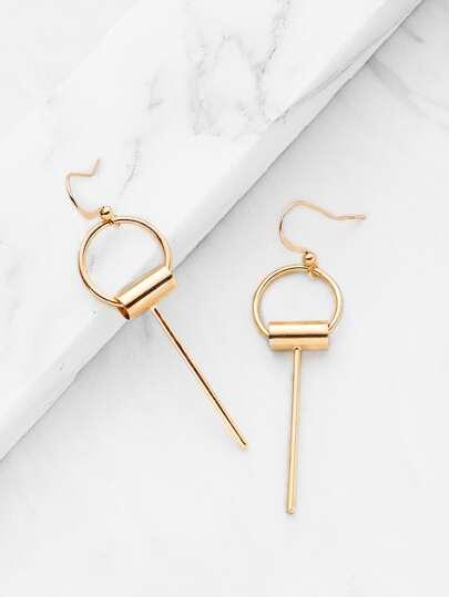 Boucles d\'oreille design de barre minimaliste