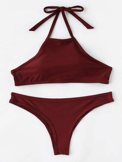 Conjunto de bikini con cabestro