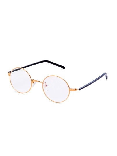 Clear Lens Round Sunglasses