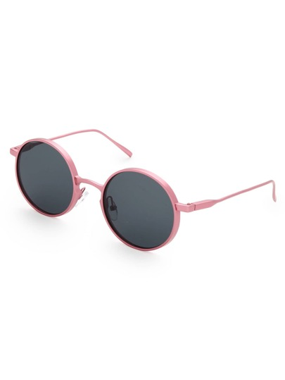 Flat Lens Round Sunglasses