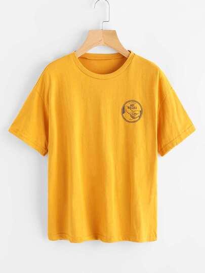 T-shirt con stampa grafica