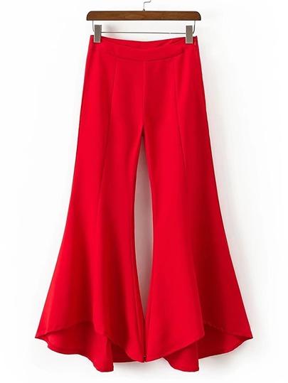 Pantalons trompette avec le zip
