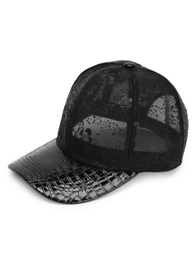 Crocodile Pattern Mesh Cap