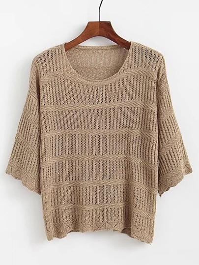 3/4 Sleeve Loose Sweater