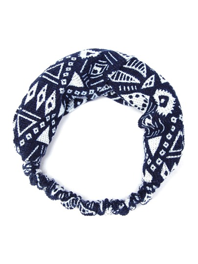 Geometric Print Elastic Hairband